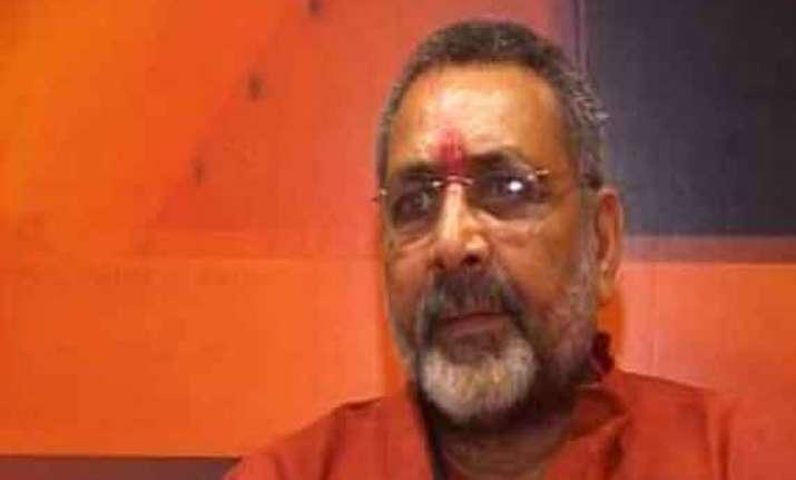 bjp leader giriraj singh s rallies banned may be arrested