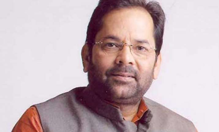 bjp meet to discuss strategy against upa regime naqvi