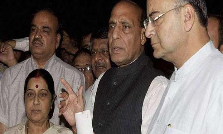 bjp parliamentary board rejects advani s resignation