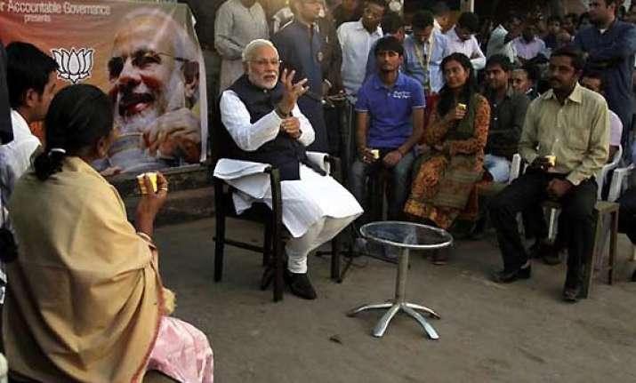 bjp s chai pe charcha runs into election commission trouble