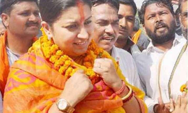 bjp seeks re poll on eight amethi booths
