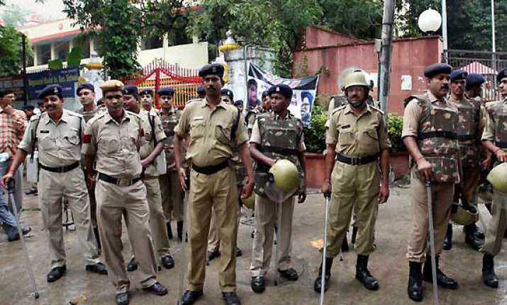 bjp youth wing workers detained during protest
