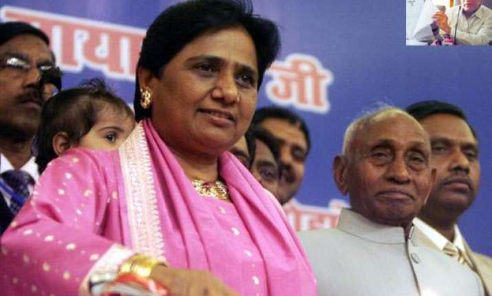 bjp alleges rs 2.54 lakh cr scam by mayawati govt