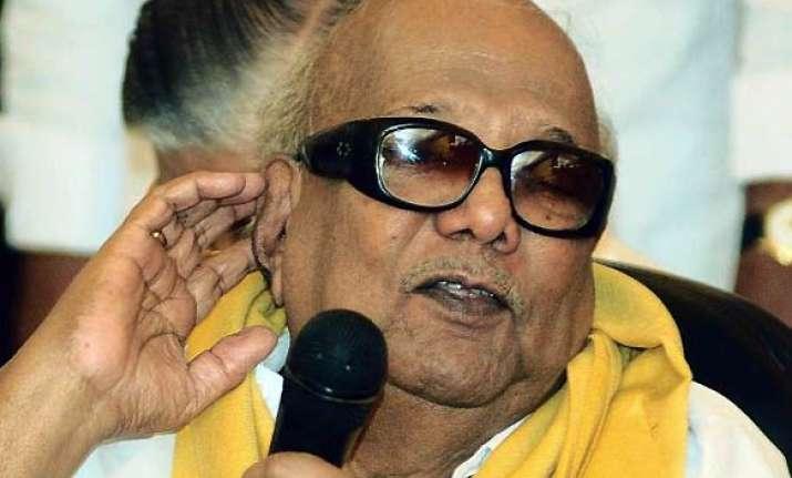 bjp demands karunanidhi s resignation