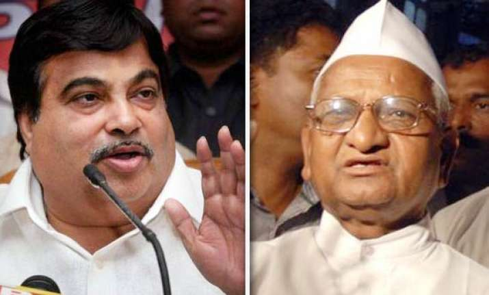 bjp is with anna says gadkari