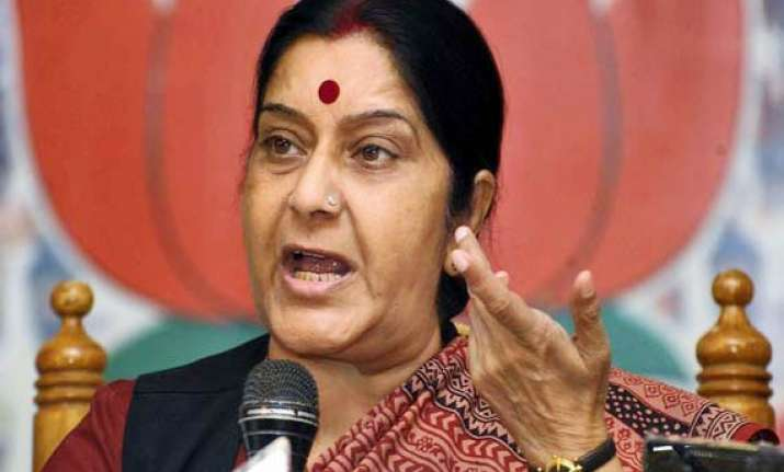 bjp to bring out people s report card on upa ii sushma