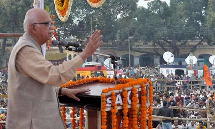 bjp wants ram rajya says advani