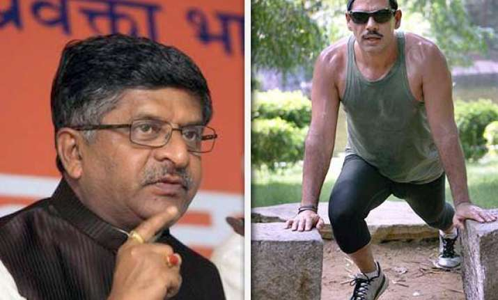 why vadra affairs not being probed asks bjp