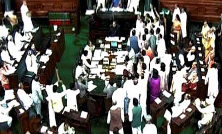 bjp disrupts parliament over wal mart lobbying issue