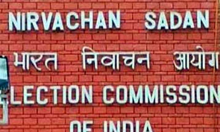 bar chargesheeted people from contesting polls ec tells