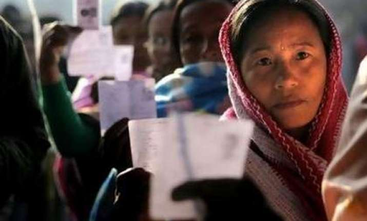 live ls polls 2014 around 72 pc polling in assam while