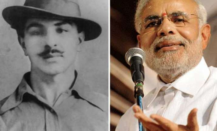 bhagat singh s family divided over modi releasing martyr s