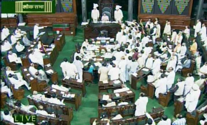 both houses adjourned till noon after uproar over coalgate
