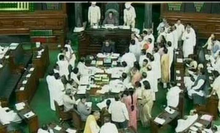 both houses of parliament adjourned after uproar