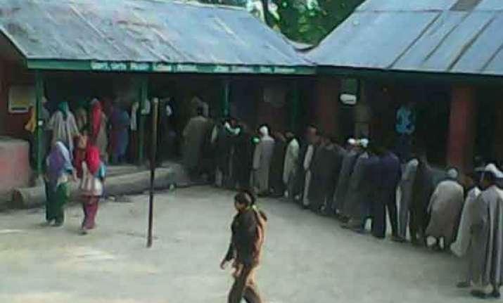 brisk voting in ladakh sluggish in baramulla