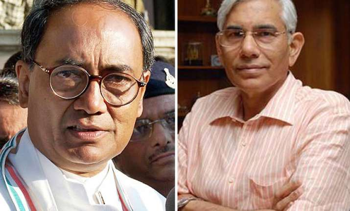 cag should plug leaks from his office digvijay