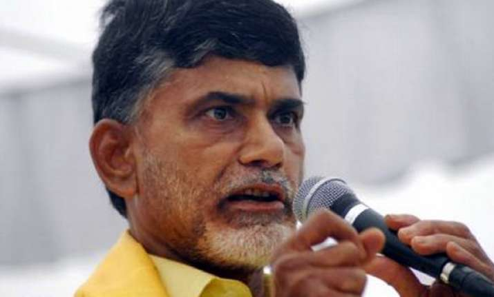 chandrababu naidu begins fast in delhi against telangana