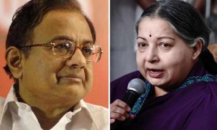 chidambaram s continuance a blot on democracy says jaya