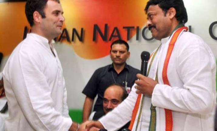 chiranjeevi formally joins congress hails rahul as future pm