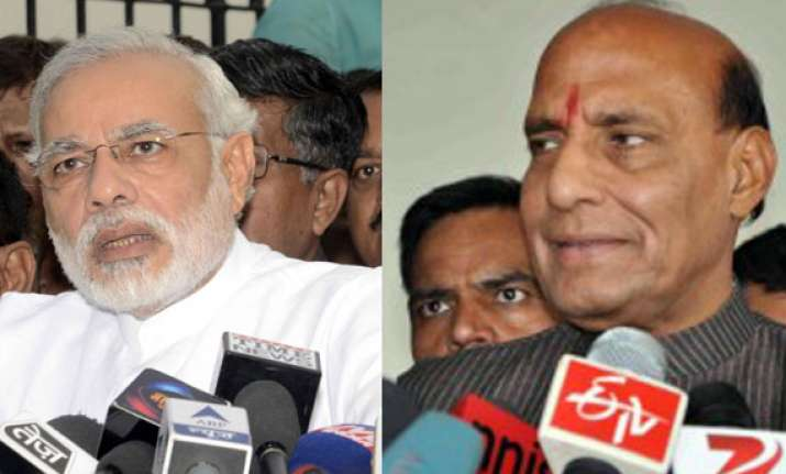 confident of modi becoming pm bjp holds flurry of meetings