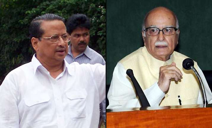 cong accuses advani of being silent on scams in orissa govt