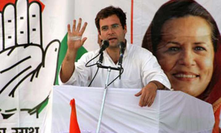 cong govt needed for up s bright future says rahul