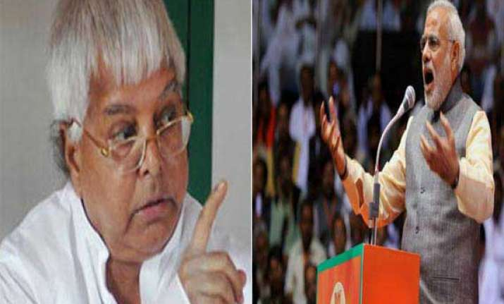 congress committed a sin by releasing lalu from jail modi