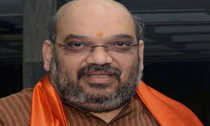 congress files poll code violation plaint against amit shah