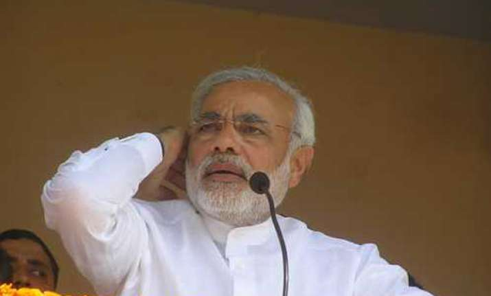 congress ridicules modi for toilet remark