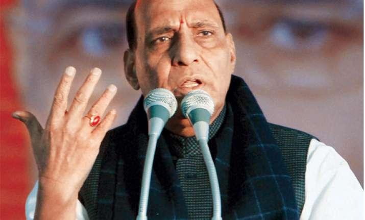 congress has betrayed people s aspirations says rajnath