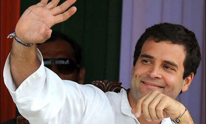 congress keen to make rahul s sunday rally a success