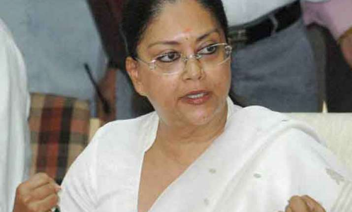 congress leaders flustered with modi s popularity raje