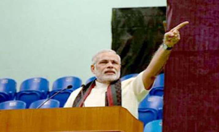 congress takes dig at modi for branding remark