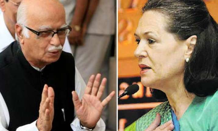 congress has become fiefdom of a singly family writes advani