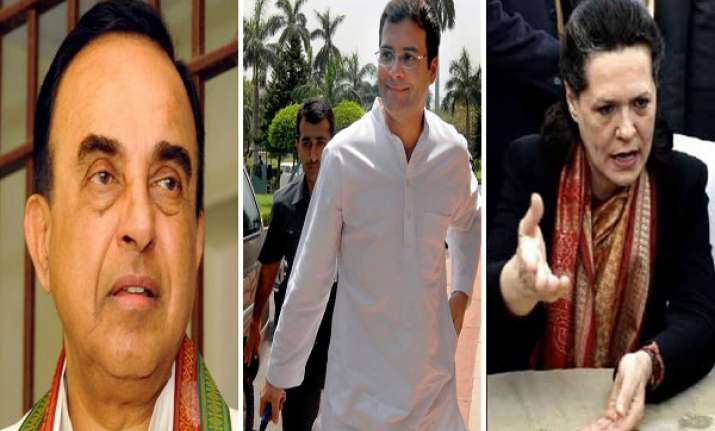 congress dares swamy to sue sonia rahul swamy says he will