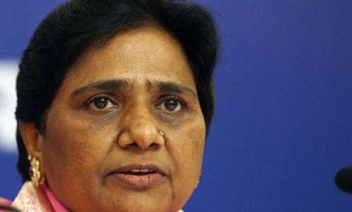 congress playing double game says mayawati