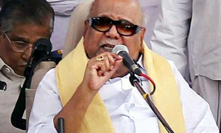 dmk does not need support of national parties karunanidhi