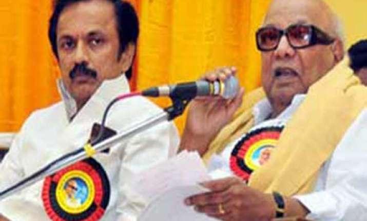 dmk chief karunanidhi finally names stalin his political