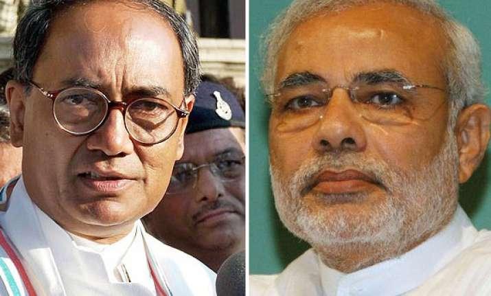 digvijay takes on modi over gujarat development claims