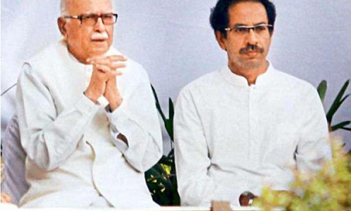 don t discard advani yet sena to bjp