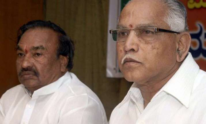 eswarappa trying to throw me out of bjp yeddyurappa
