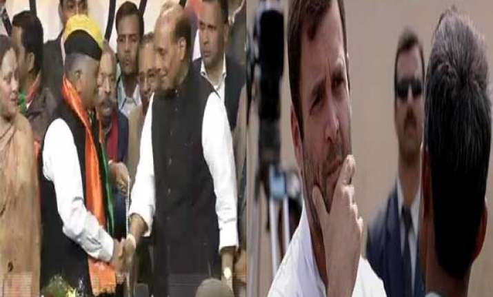 former army chief joins bjp rahul reaches out to rickshaw