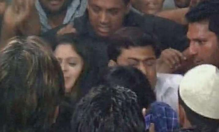 nagma slaps youth at poll meeting