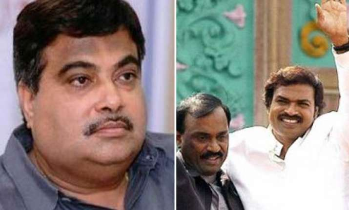 gadkari to take part in pooja at reddy brothers house