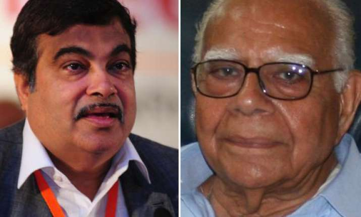 gadkari can continue if inquiry relieves him jethmalani
