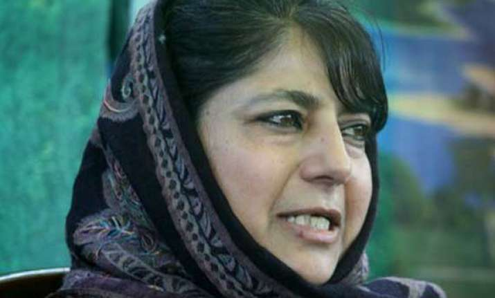 gaza attacks mehbooba mufti led pdp walks out of lok sabha