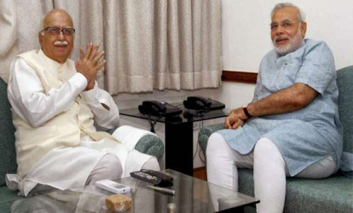 govt. formation plans picks up modi meets advani other