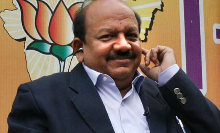 harsh vardhan files nomination papers from chandni chowk
