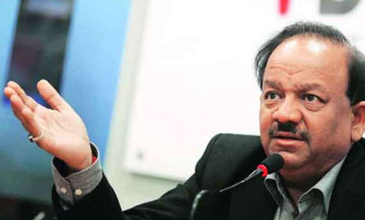 harsh vardhan outlines key to reduce maternal and child