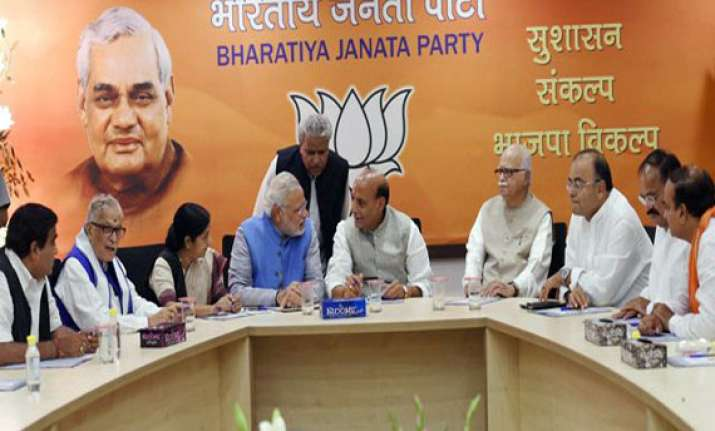 hectic parleys on as bjp deliberates on modi s cabinet